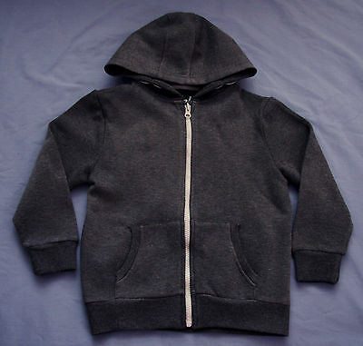 Grey Fleck Fleece Zip Hoodie Jacket - Size 7