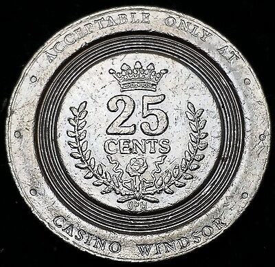 Vintage Casino Windsor 25 Cents Gaming Token Chip, Ontario, Canada