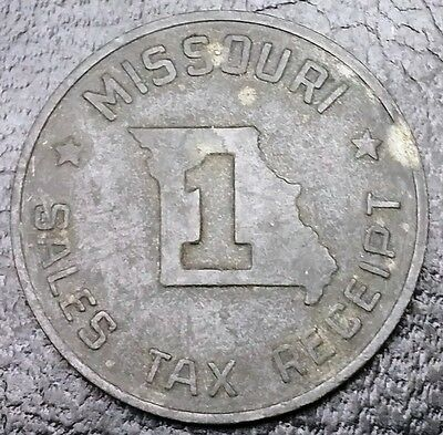 Vintage 1930's Missouri Sales Tax Receipt Token ✪ FREE COMBINED S/H ✪