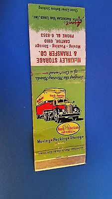 Advertising Matchbook Cover-North American Van Lines Canton Ohio