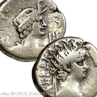 NERO / ALEXANDRIA Elephant scalp headdress Tetradrachm Coin Ancient Roman Empire