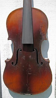 Old antique full size violin for restoration, #1273
