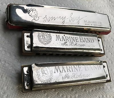 Vintage M. Hohner Harmonica Lot - Germany