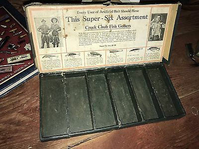 Rare Creek Chub 6 Pack Box Early 1920's Antique Lures