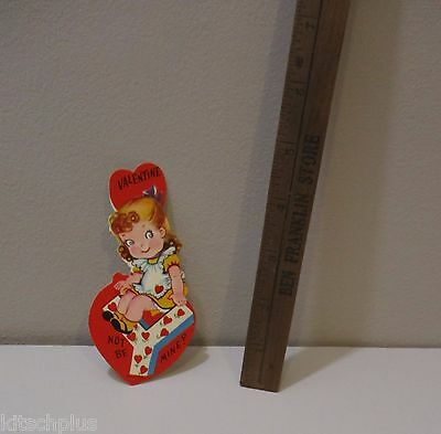 Vtg Valentine Card 60's Pretty Little Girl Letter Y Not be Mine? Unused