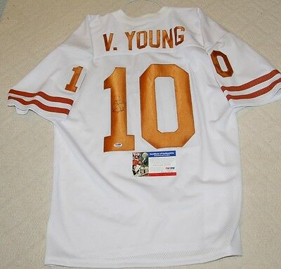 Vince Young Signed Texas Longhorns Custom Jersey PSA/DNA
