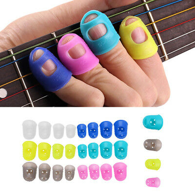 4x Guitar Fingertip Protectors Finger Guards For Guitar Ukulele Accessories Hot