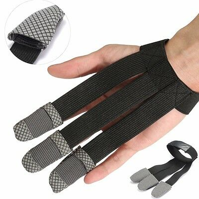 3 Fingers Archery Protect Glove Shooting Hunting Glove Finger Guard Protector