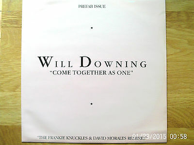 "Will Downing Come Together As One - Club Mix 12"" Single 1989 N/mint"