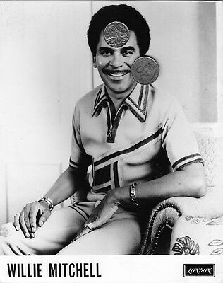 WILLIE MITCHELL PRESS PUBLICITY PROMO GLOSSY 8x10 PHOTO PICTURE SOUL R&B