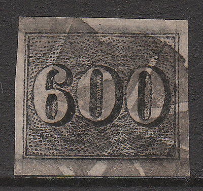 BRAZIL 1850 #24b USED IMPERF NUMERAL STAMP