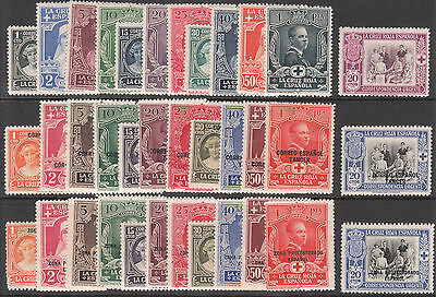 Spain Tangier Spanish Morocco 1926 Red Cross Mnh/muh Mint Part Stamp Sets