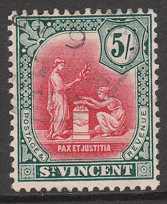 ST VINCENT 1913 #118 USED GV STAMP wmk MCA