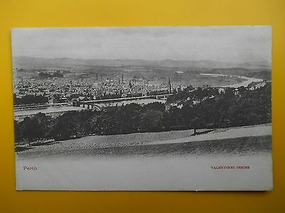 View of Town over River Tay PERTH Perthshire *Vintage* c1905