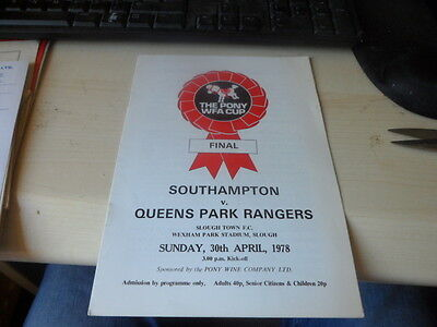 Southampton Ladies V Qpr Ladies-30/4/.1978-The Pony Wfa Cup Final