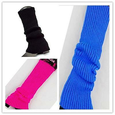 Women Winter Leg Warmers Over Knee Thigh High Boot Cover Knit Stocking Socks  SG
