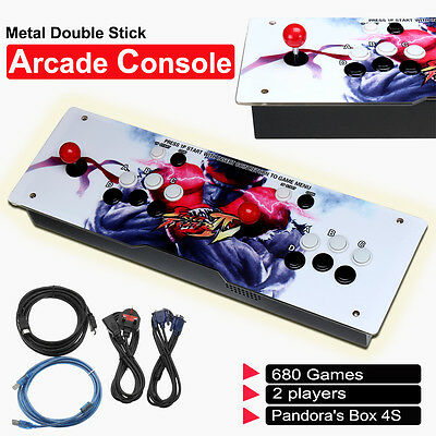 2017 Metal Doublestick Arcade Console Machine 680 Game - 2 Players Pandora's Box