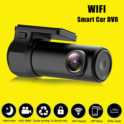 Full HD 1080P WIFI Car DVR Camera Video Recorder Monitor For Android/iPhone