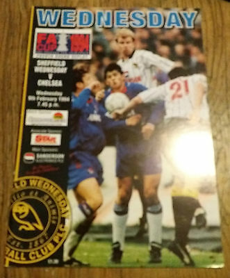 Sheffield  Wednesday  V Chelsea    Fa  Cup  4Th  Round  1994