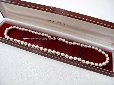 New - £99 CULTURED FRESHWATER PEARLS Necklace Jewellery Sterling Silver Clasp