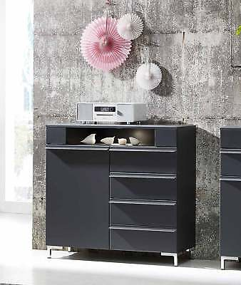modernes sideboard kommode highboard mehrzweckschrank anrichte anthrazit grau eur 64 99. Black Bedroom Furniture Sets. Home Design Ideas