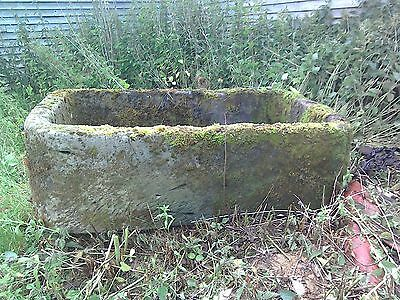 Very large old antique stone trough