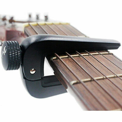 Professional Guitar Capo Universal Adjustable Acoustic, Electric+Classical Black