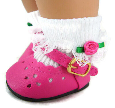 Hot Pink Shoes & Socks for Bitty Baby + Twins Doll Clothes Sew Beautiful