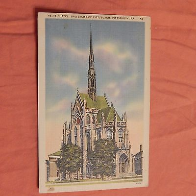 Vintage Postcard Heinz Chapel, University Of Pittsburgh, Pittsburgh, Pa.