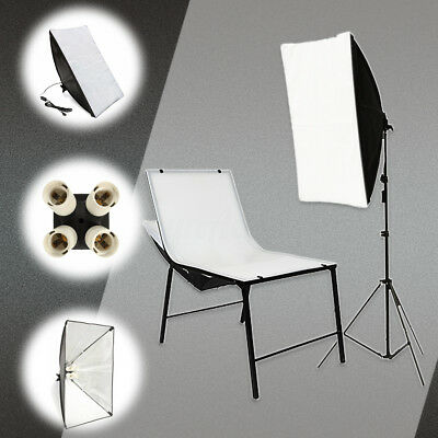 2xPhoto Photography Studio Lighting Kit Soft box 50*70cm + E27 Socket Lamp Head