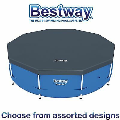 BESTWAY - PVC POOL COVER To Fit HYDRIUM / STEEL FRAME Swimming Pool - Assorted