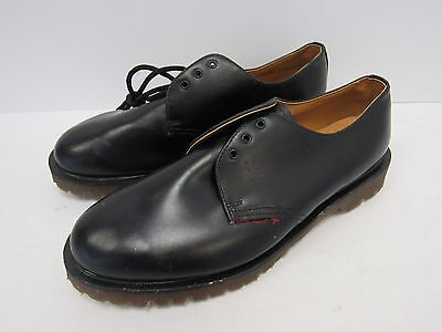 Dr Martens AirWair Black Leather Lace-up Shoes Workwear Size UK 9 - TIV L84