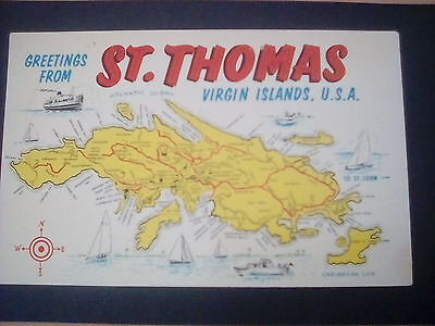 Map cards:St.Thomas,Virgin Islands,lots of detail.