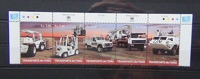 United Nations 2010 Transport in se tenant strip of 5 MNH