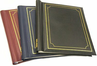 Self Adhesive Large Photo Albums 20 Sheets/40 sides 10.8 X 7.5'' -Red-Blu-Blk