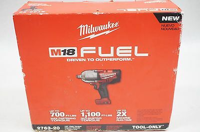 "NEW Milwaukee 2763-20 M18 FUEL 1/2"" High Torque Impact Wrench with Ring"