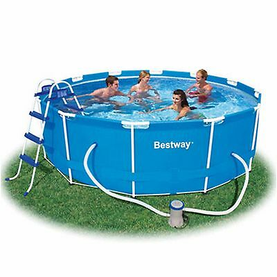 "Bestway 12' x 39.5"" Steel Pro Frame3 Set Above Ground Pool"