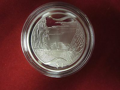 Silver Proof 1oz Coin - New Zealand 2003 $1 - Lord of the Rings - Grey Havens