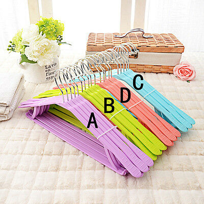 Home Plastic Coat Hanger Non-slip Hanging Clothes Drying Rack Wardrobe Organizer
