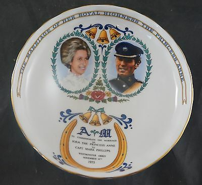 AYNSLEY Footed Sweet Dish Commemorate Wedding of Princess Anne & Phillips 1973
