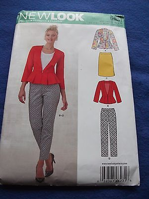 New Look Sewing Pattern - Lady's Jackets, Skirt & Trousers  2013  Sizes 8-18