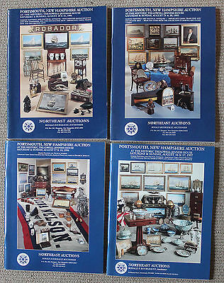 Lot of 4 Northeast Auctions Marine/Nautical Catalogs/Great Reference!