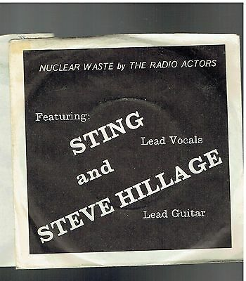 Radio Actors Nuclear Waste Ps 45 1979 Sting Steve Hillage