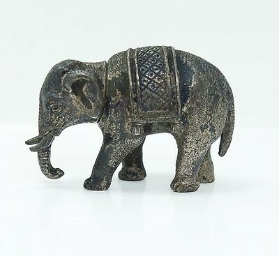 Estate Found Antique Early 20c French 800 Silver Figural Elephant Snuff Box