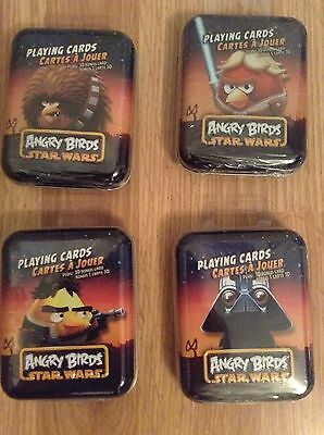Star Wars Angry Birds  Playing Cards With Collectors Tin plus 3D