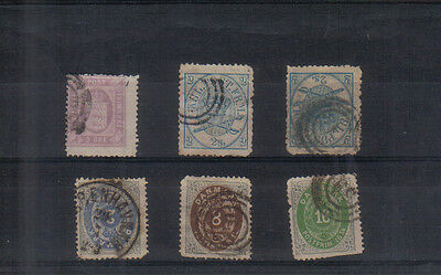 Denmark Six early stamps