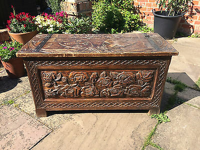 A nice carved coffer- early C20th
