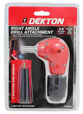 "3/8-inch Right Angle Drill Attachment Keyless Chuck 3/8"" Universal Hand & Power"