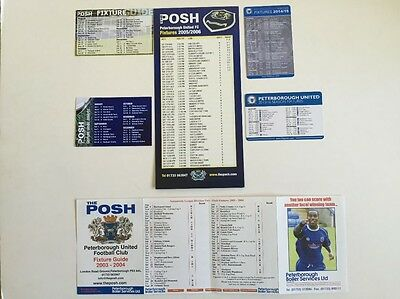 Peterborough United fixture lists x 6 Listed below