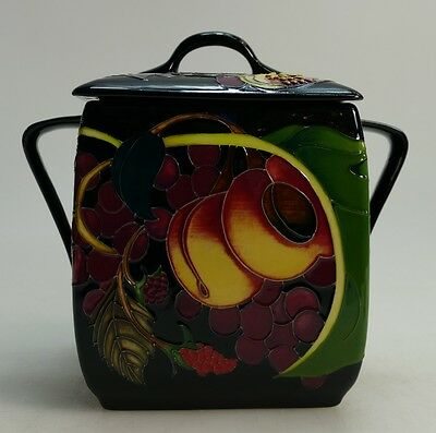 MOORCROFT - Queens Choice design Biscuit Barrel - Emma Bossons 1st quality